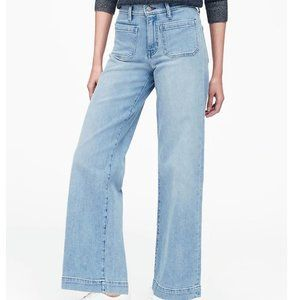 Banana Republic Wide leg high waist jeans 27